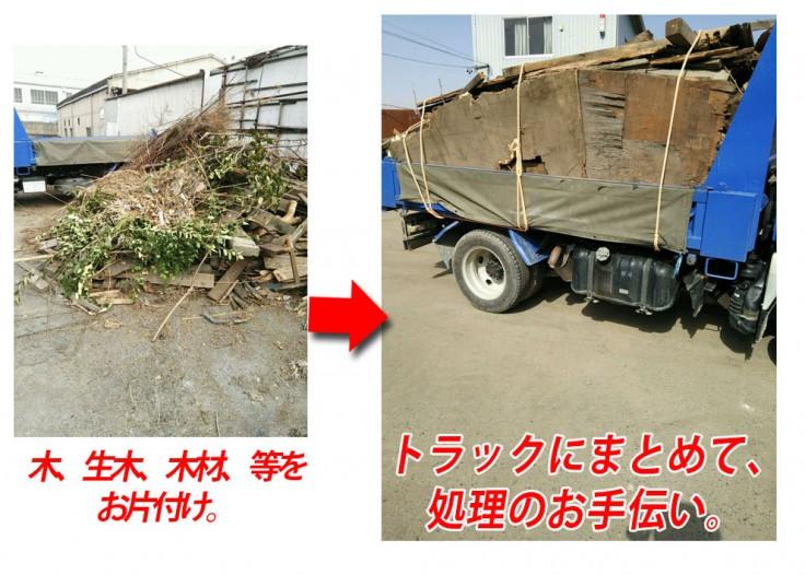木材の回収のお手伝い。