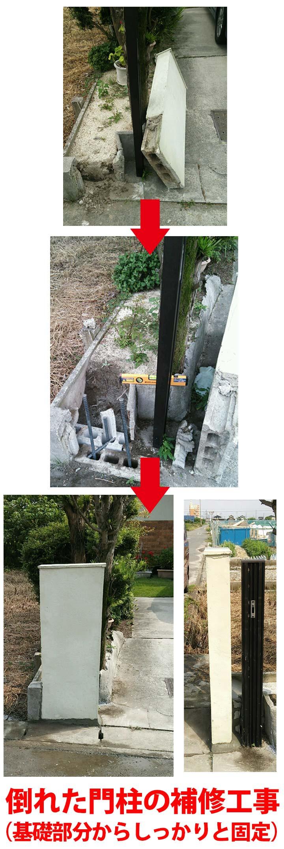 門柱の工事